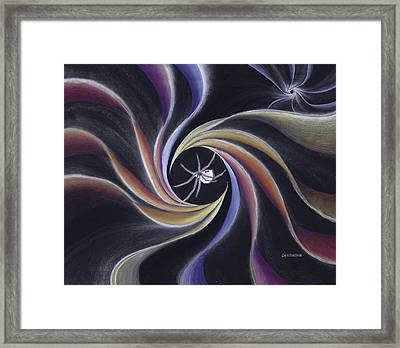 Grandmother Spider Weaving The Universe Framed Print by Robin Aisha Landsong