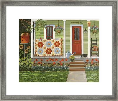 Grandmother's Flower Garden Framed Print by Mary Charles