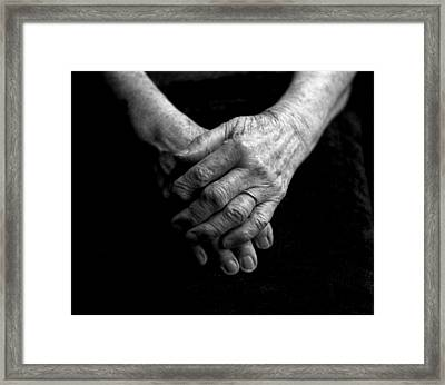 Grandmother's Hands Framed Print by Todd Fox