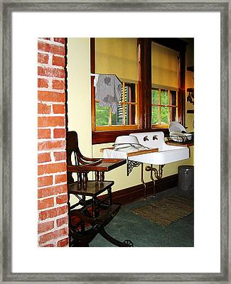 Grandmother's Kitchen Framed Print by Susan Savad