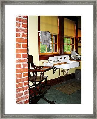 Grandmother's Kitchen Framed Print by Susan Savad