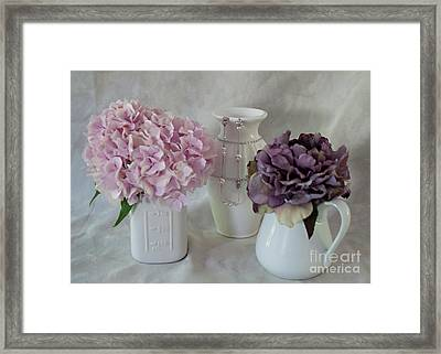 Framed Print featuring the photograph Grandmother's Vanity Top by Sherry Hallemeier