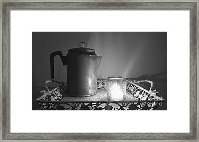 Grandmothers Vintage Coffee Pot Framed Print