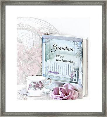 Grandmother...tell Me Your Memories Framed Print