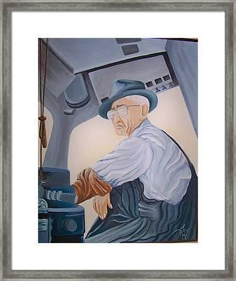 Grandpa Albee Framed Print by Tammera Malicki-Wong