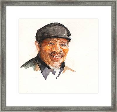 Grandpa John Perkins Framed Print by Nancy Watson