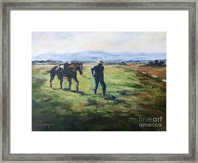 Grandpa On The Ranch - A Time And A Season Framed Print