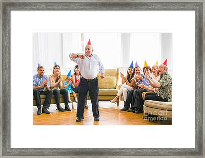 Grandpa's Birthday Dance Framed Print