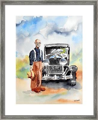 Grandpa's Chevy Framed Print