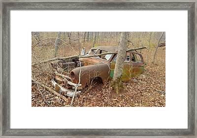 Grandpa's Ford Framed Print by Jan VonBokel