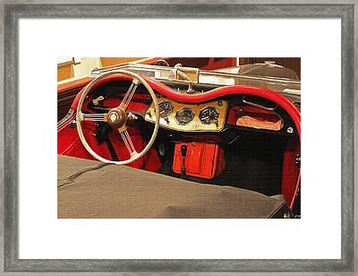 Grandpa's Garage Framed Print