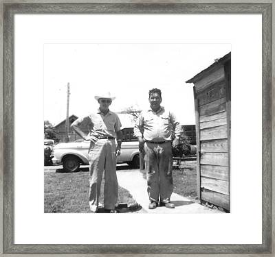 Grandpa's In Ok Framed Print