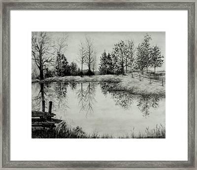 Grandpa's Pond Framed Print