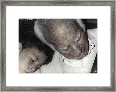 Grampas Shoulder Framed Print by Wayne King