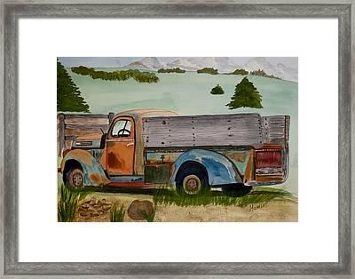 Grandpa's Truck Framed Print