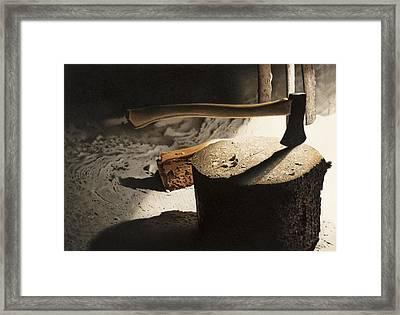 Grandpa's Woodshed Framed Print
