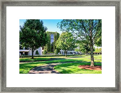 Grandstand At Keeneland Ky Framed Print by Chris Smith