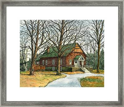 Grange Hall No.44, Londonderry, Nh Framed Print by Elaine Farmer