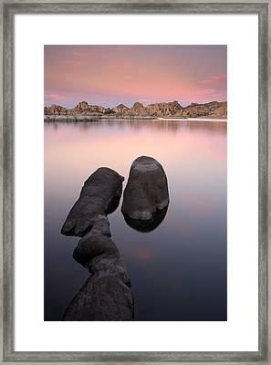 Granite Dells Twilight Framed Print by Eric Foltz