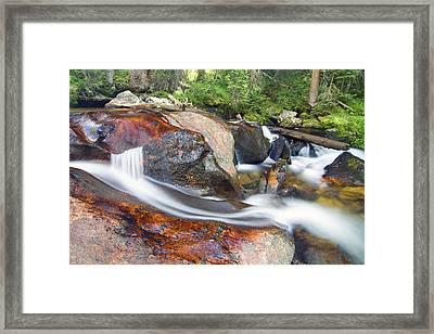 Framed Print featuring the photograph Granite Falls by Gary Lengyel