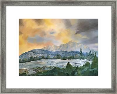 Granite Grandeur-sierra Morning Framed Print