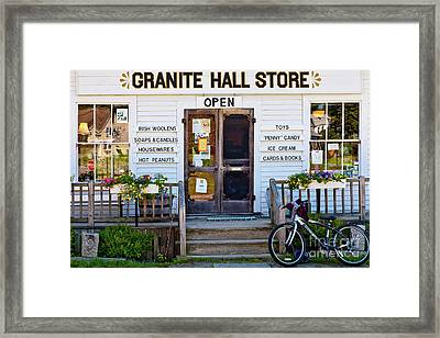 Granite Hall Store  Framed Print by Susan Cole Kelly