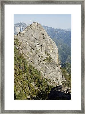 Granite Monolith Moro Rock At The Edge Framed Print