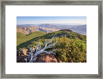 Framed Print featuring the photograph Granite Mountain View by Alexander Kunz