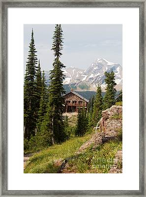 Framed Print featuring the photograph Granite Park Chalet And Heaven's Peak 2 by Katie LaSalle-Lowery