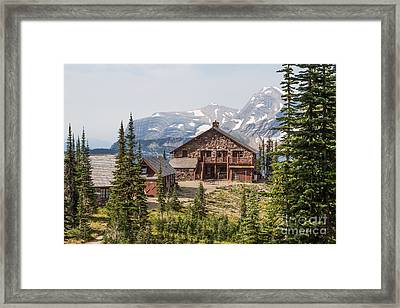 Framed Print featuring the photograph Granite Park Chalet And Heaven's Peak 3 by Katie LaSalle-Lowery