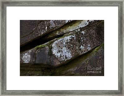 Granite Rock Close Up Framed Print