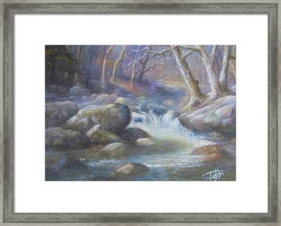 Granite Run Framed Print
