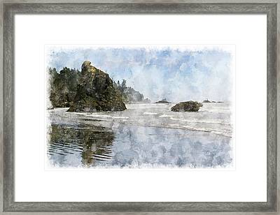 Granite Stacks Olympic Park Framed Print by Peter J Sucy