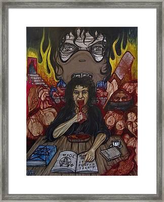Grannibal Lecter - Tamara Samsanova Framed Print by Sam Hane
