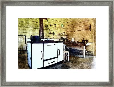 Grannies Kitchen Framed Print by Susan Leggett