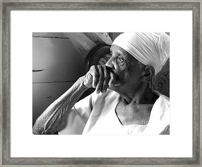 Granny Framed Print by Barbara Marcus