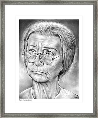 Granny Framed Print by Greg Joens