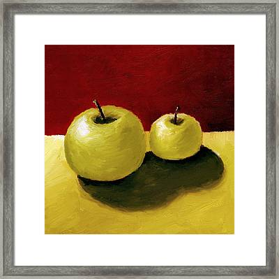 Granny Smith Apples Framed Print by Michelle Calkins