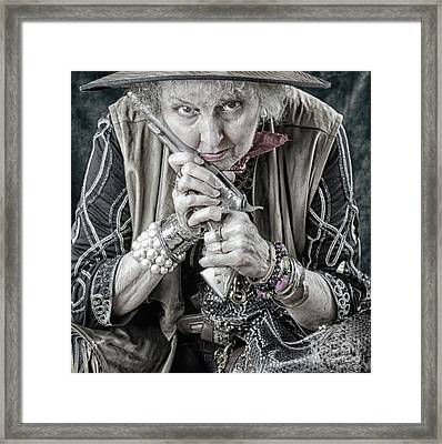 Granny With Her Gun  Framed Print by Steven Digman
