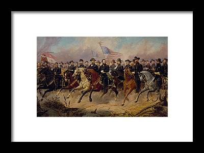 Us Civil War Framed Prints