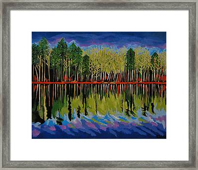 Framed Print featuring the painting Grant's Lake Reflections by Kathleen Sartoris