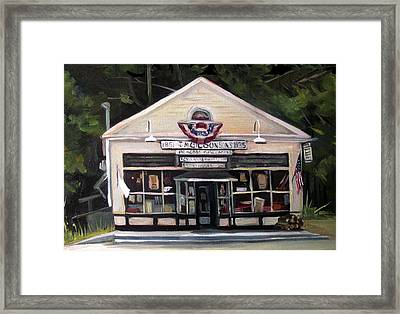 Granville Country Store Front View Framed Print