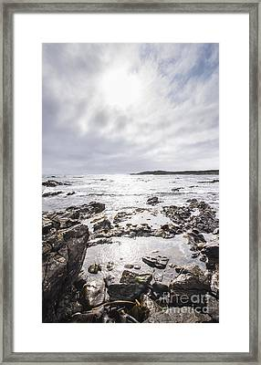 Granville Harbour Seascape Framed Print