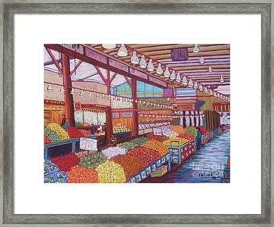 Granville Island Market Bc Framed Print