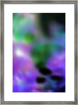 Grape Blur Framed Print by Carolyn Stagger Cokley