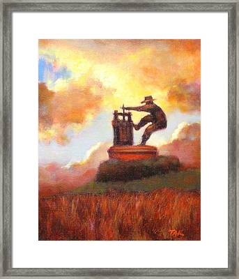 Grape Crusher Sunset Cloud Napa Valley Framed Print