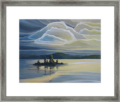 Grape Island Framed Print