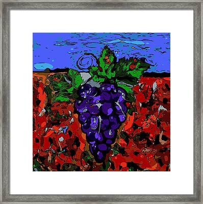 Grape Jazz Digital Framed Print