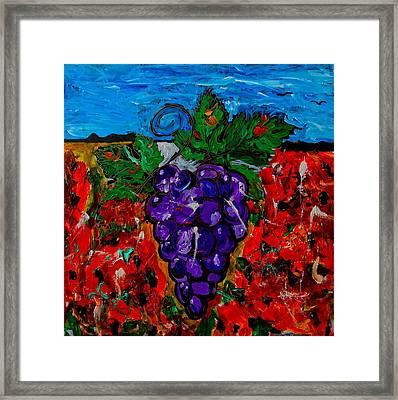 Grape Jazz Framed Print
