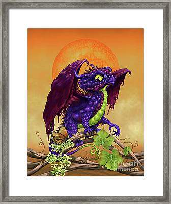Framed Print featuring the digital art Grape Jelly Dragon by Stanley Morrison